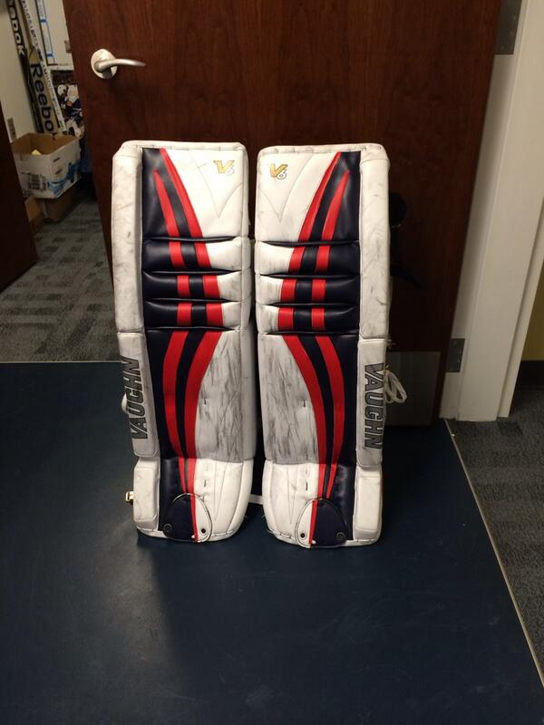 Ryan-Millers-Pads-with-Red-PadSkinz
